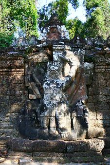 Ta Prohm Temple,Angkor Stock Photo