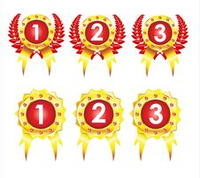 Free Best Golden Badges Royalty Free Stock Photo - 16301955