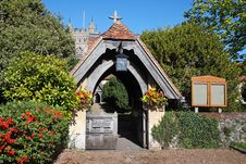 Free Lychgate To An English Village Church Royalty Free Stock Photos - 16302148
