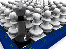 Free Pawns Attack King Stock Photos - 16302823