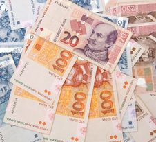 Croatian Kuna Banknotes Background Royalty Free Stock Photography