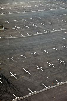Free Marked Parking Lot Without Cars Royalty Free Stock Photography - 16303397