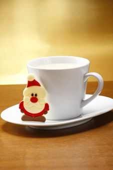 Free Milk And Cookies For Santa Stock Images - 16303414