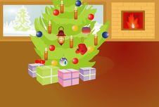 Free Christmas Room Royalty Free Stock Images - 16303819