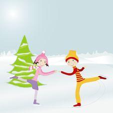 Free Kid Skating3 Royalty Free Stock Photography - 16303827