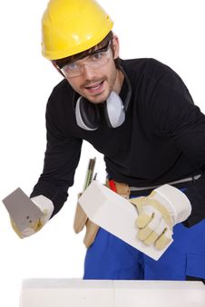 Free Happy Bricklayer Stock Photography - 16303842