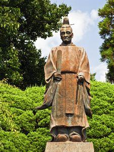 Ancient Samurai Statue Stock Images