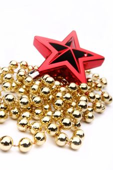 Free Red Christmas Star Stock Photography - 16304362