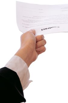 Signing Of A Contract Stock Image