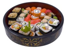 Free Rolled And Sushi Royalty Free Stock Photo - 16304535