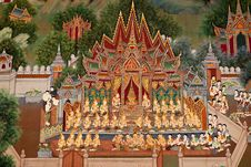Free Art Thai Style In Temple Royalty Free Stock Photos - 16304848