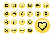 Free Yellow Glow Web Buttons Stock Photos - 16305443