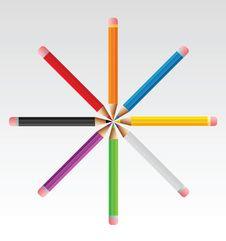 Sun Pencils Royalty Free Stock Photos
