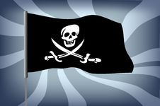 Free Pirate Flag Royalty Free Stock Photography - 16306007