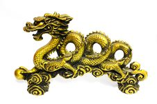 Free Golden Dragon On White Royalty Free Stock Images - 16306169