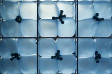 Blue Balloons In The Grid Royalty Free Stock Photos