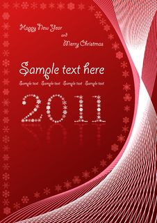 Free Christmas Abstract Red Background Royalty Free Stock Images - 16307569