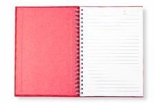 Free Open Red Note Book Stock Photos - 16308263