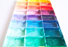 Shade Colours On Palette Royalty Free Stock Image