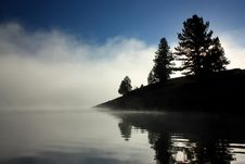 Free Fog Rises From The Prosser Lake Royalty Free Stock Photography - 16308537