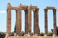 Ruins Of Greek Temple Royalty Free Stock Photography