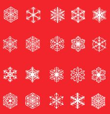 Free Set Of Snowflakes Stock Photography - 16308752