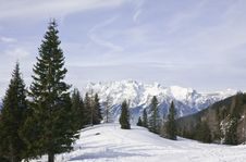 Free Mountains Under Snow In The Winter.  Austria Royalty Free Stock Photography - 16308767