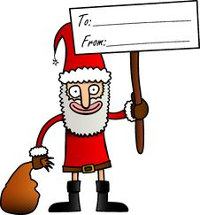 Funny Cartoon Santa Stock Images