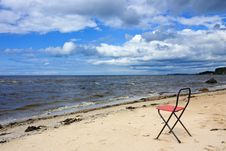 Free Chair On The Beach. Royalty Free Stock Photography - 16309067