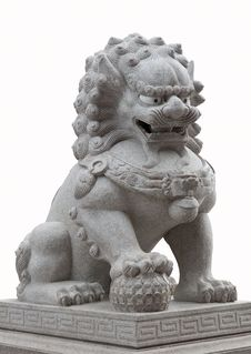 Free Statue Of Lion Royalty Free Stock Photos - 16309288