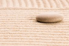 Free Zen. Stone And Sand Stock Photos - 16309343
