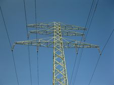 Free Pillar Of The Old High-voltage Lines Stock Photography - 16309382