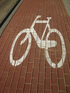 Free Sign On A Bicycle Stock Images - 16309404