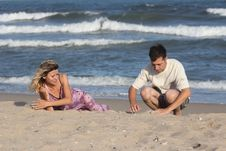 Free Couple On The Sand Royalty Free Stock Image - 16309526