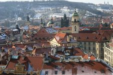 Free Prague Roof Tops And Churches Royalty Free Stock Photos - 16309568