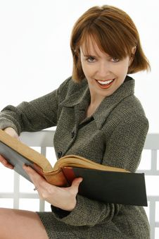Free Woman With Book Royalty Free Stock Image - 16309696