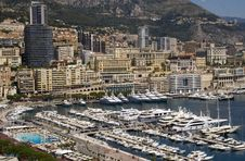 Free Monaco And Marina. Royalty Free Stock Images - 16309979