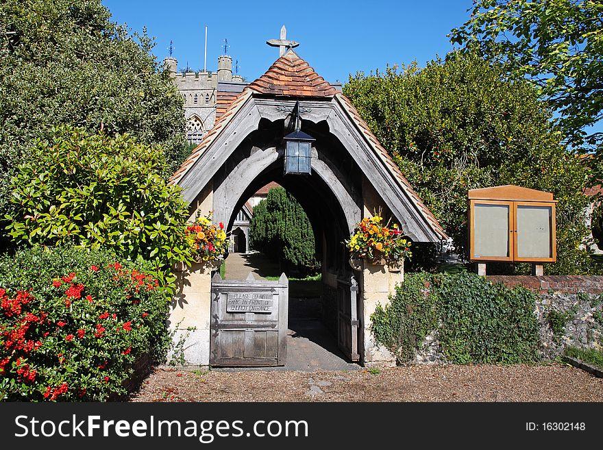 Lychgate to an English Village Church