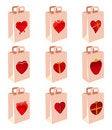 Free Love Decoration Shopping Bag Stock Image - 16310691