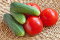 Free Still-life Of Tomatoes And Cucumbers Stock Images - 16313444