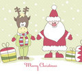 Free Santa, Reindeer And Gift. Vector Illustration Stock Image - 16319111