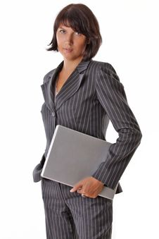 Free Business Woman With Laptop Royalty Free Stock Images - 16310409
