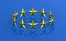 Free Twelve Golden Stars Stock Photography - 16310472