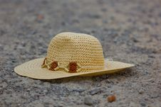 Free Hat On The Road Royalty Free Stock Photography - 16310637