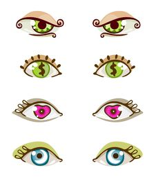 Free Eye Set Royalty Free Stock Photo - 16310685