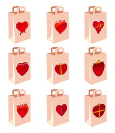 Free Love Decoration Shopping Bag Stock Image - 16310691