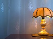 Free Classic Lamp On Table Royalty Free Stock Photo - 16311135