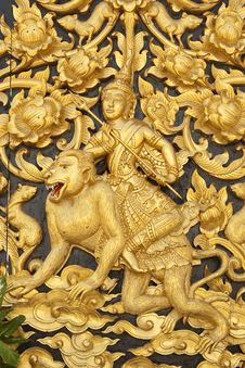 Free Art Thai Style In Temple Royalty Free Stock Images - 16311289