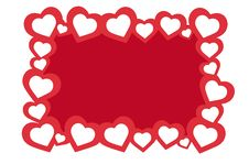 Free Hearts Frame Royalty Free Stock Image - 16311566