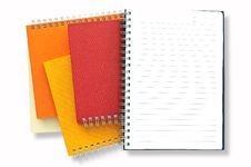 Free Stack Of Note Book Royalty Free Stock Photos - 16311568